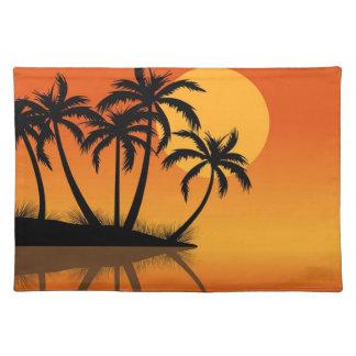 日没の場所マットの島 ランチョンマット