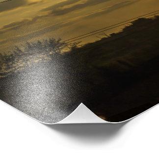日没の太陽 フォトプリント