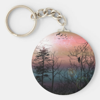 日没の孤独のゴシック様式景色のファンタジー キーホルダー