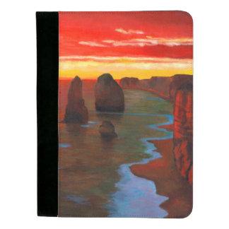 日没の岩が多い海岸 パッドフォリオ