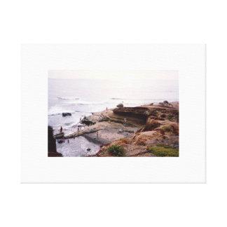 日没の崖サンディエゴ キャンバスプリント