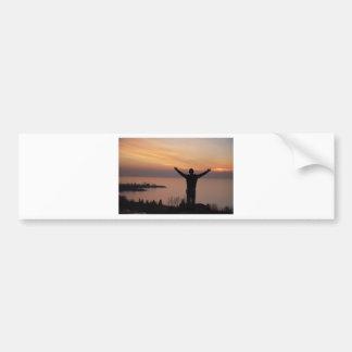 日没の崖 バンパーステッカー