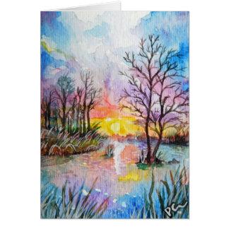 日没の川岸カード カード