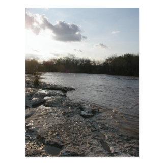日没の川岸 ポストカード