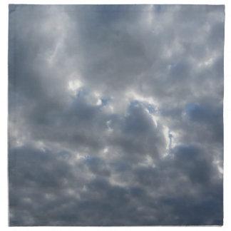 日没の巨人の積乱雲が付いている暖かい空 ナプキンクロス