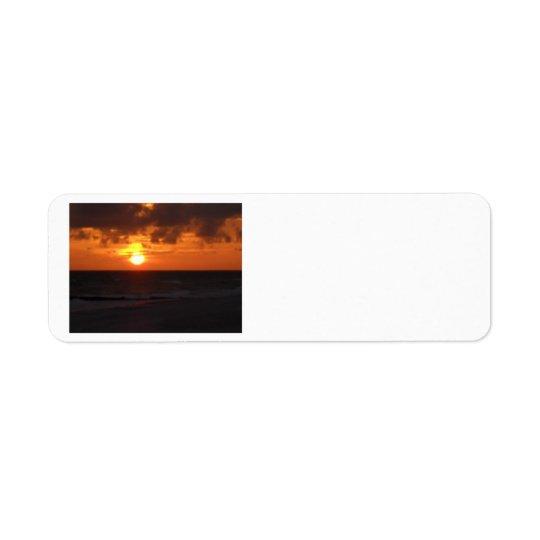 日没の差出人住所ラベル 返信用宛名ラベル