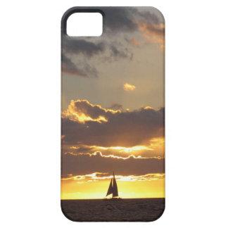 日没の帆ボート iPhone SE/5/5s ケース