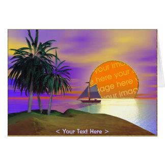 日没の帆 カード
