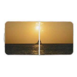 日没の帆 ビアポンテーブル