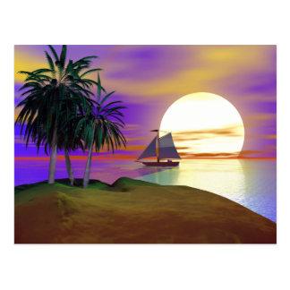 日没の帆 ポストカード