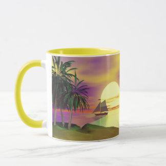 日没の帆 マグカップ
