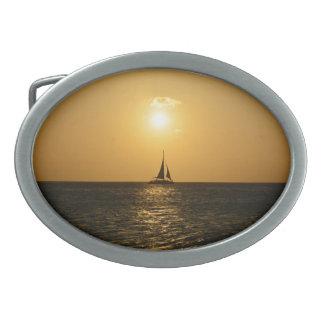 日没の帆 卵形バックル
