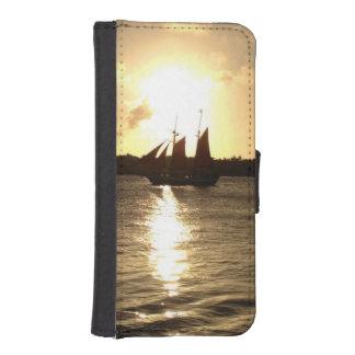 日没の帆 iPhoneSE/5/5sウォレットケース
