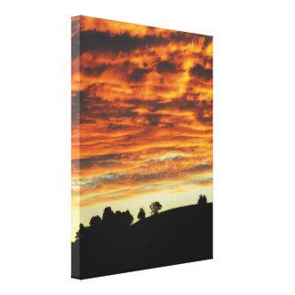 日没の平静のキャンバス キャンバスプリント