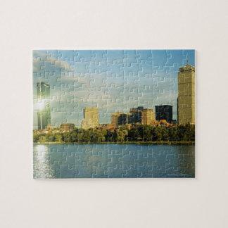 日没の建物、ジョンハンコックタワー、ボストン、 ジグソーパズル