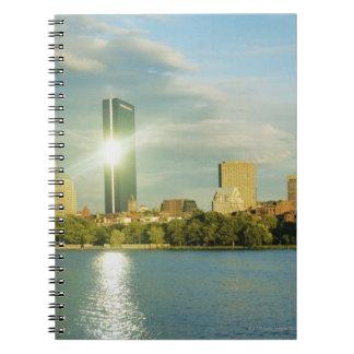 日没の建物、ジョンハンコックタワー、ボストン、 ノートブック