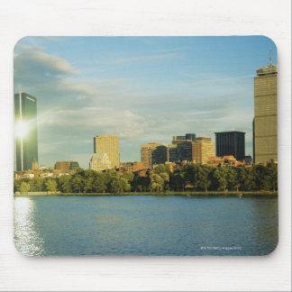 日没の建物、ジョンハンコックタワー、ボストン、 マウスパッド