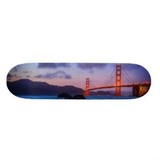 日没の後パン屋のビーチで 20CM スケートボードデッキ