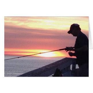 日没の挨拶状の漁師 カード