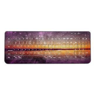 日没の星雲の反射 ワイヤレスキーボード