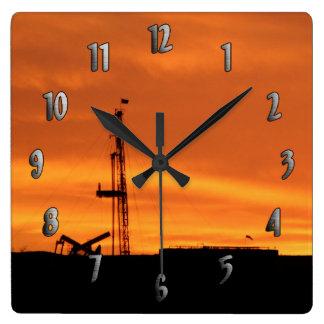 日没の時計の改修の装備の場所 スクエア壁時計