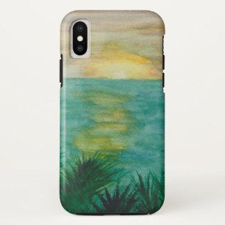 日没の景色 iPhone X ケース