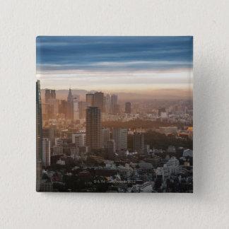 日没の東京スカイライン 缶バッジ