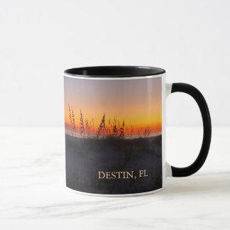 日没の海のオートムギ- Destin、フロリダ-モモ マグカップ