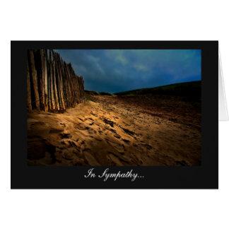 日没の海岸出口-悔やみや弔慰の… カード