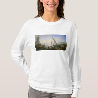 日没の海港 Tシャツ