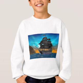 日没の海賊船 スウェットシャツ