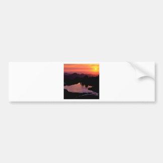 日没の湖セント・アンドリュース バンパーステッカー