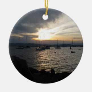 日没の湖Champlain セラミックオーナメント