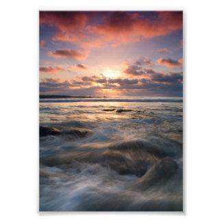 日没の潮 フォトプリント
