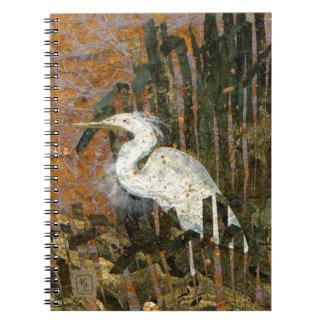 日没の白鷺 ノートブック