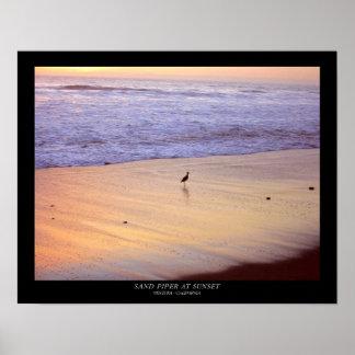 日没の砂のパイパー: ベントゥーラ-カリフォルニア ポスター