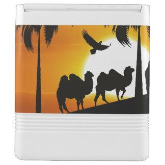 日没の砂漠のラクダ クールボックス