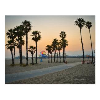 日没の米国、カリフォルニア、サンタモニカ桟橋 ポストカード