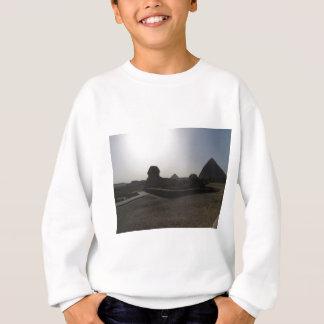 日没の素晴らしいスフィンクスそしてピラミッド スウェットシャツ