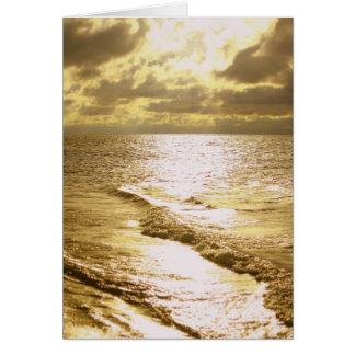 日没の素晴らしさの挨拶状 カード