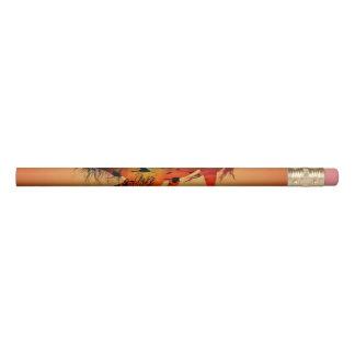 日没の美しい馬 鉛筆