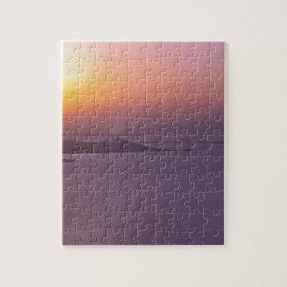 日没の背景は一流の引用文の写真を加えます ジグソーパズル