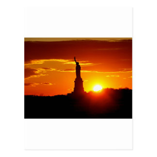 日没の自由の女神 ポストカード