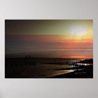 日没の若者湾橋 ポスター
