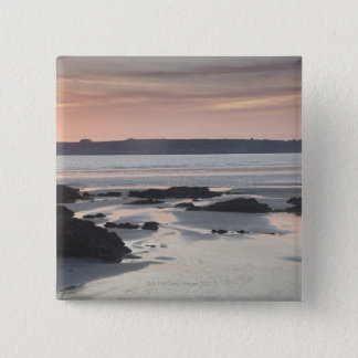 日没の荒磯 5.1CM 正方形バッジ