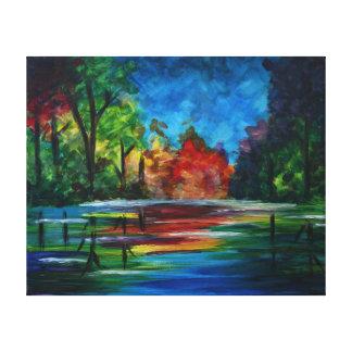 日没の虹 キャンバスプリント