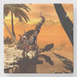 日没の装甲とのTレックス ストーンコースター