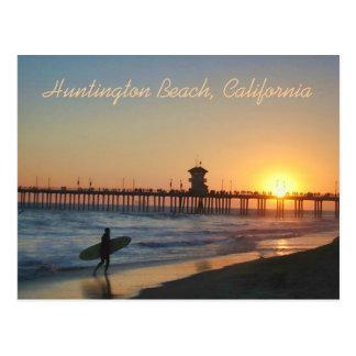 日没の郵便はがきのハンチングトンビーチ ポストカード