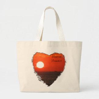 日没の酒宴の巡航; メキシコの記念品 ラージトートバッグ