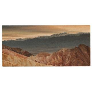日没の金渓谷 ウッドUSBフラッシュドライブ